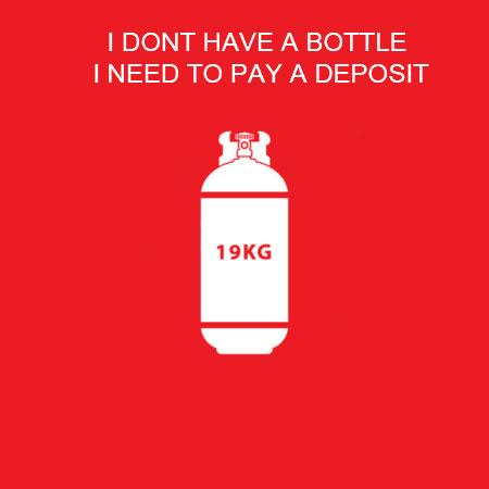 19Kg Gas Bottle (Deposit Only)