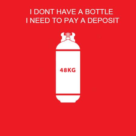 48Kg Gas Bottle (Deposit Only)