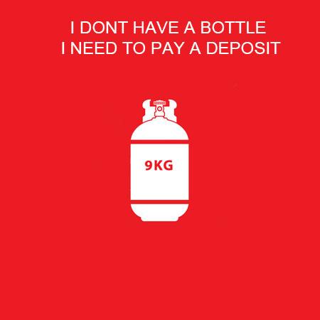 9Kg Gas Bottle (Deposit Only)